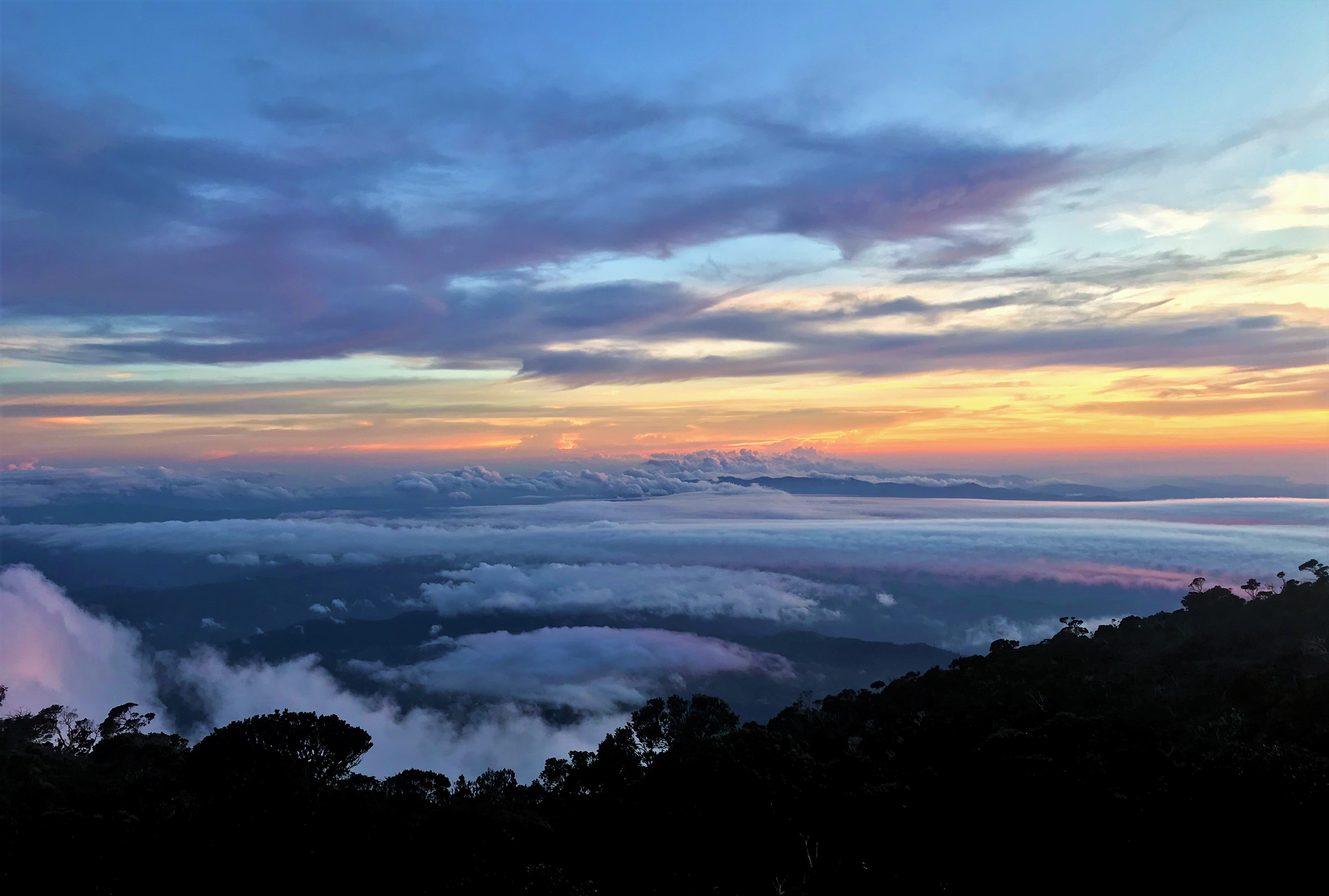 View From Laban Rata Sunset