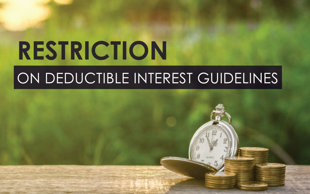 Restriction On Deductible Interest Guidelines