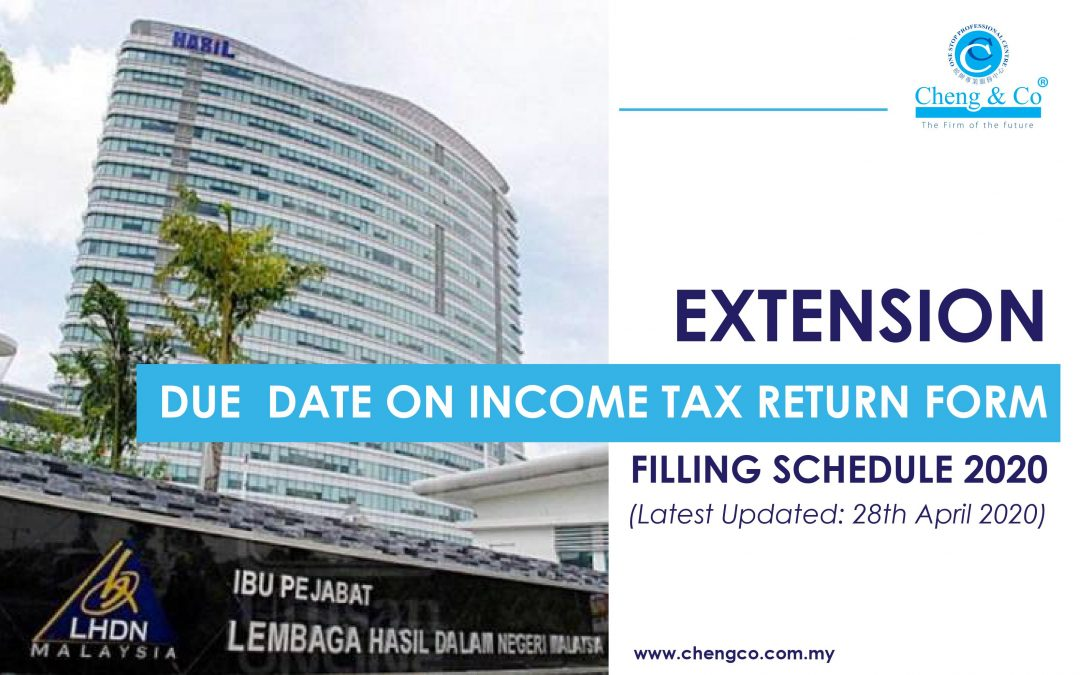 Extension Due Date on Income Tax Return Form Filling Schedule 2020 (Latest Updated: 28 April 2020)
