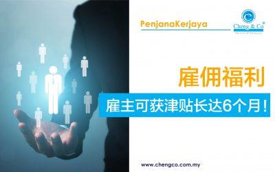 雇佣福利 : 雇主可获津贴长达6个月!