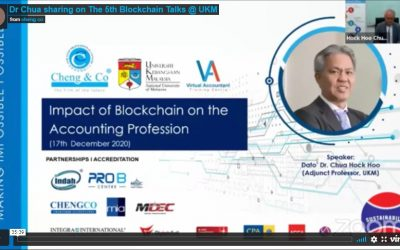 """Dr Chua sharing on """"The Impact of Blockchain on the Accounting Profession"""""""