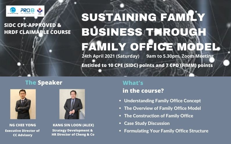 Workshop: Sustaining Family Business Through Family Office Model