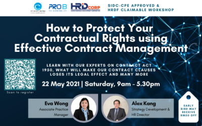 Workshop: How to Protect your Contractual Rights using Effective Contract Management